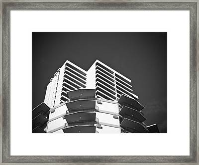 White Building To The Sky In Oahu Hawaii Framed Print by Ryan Kelly