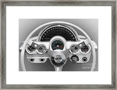 Framed Print featuring the photograph White C1 Dash by Dennis Hedberg
