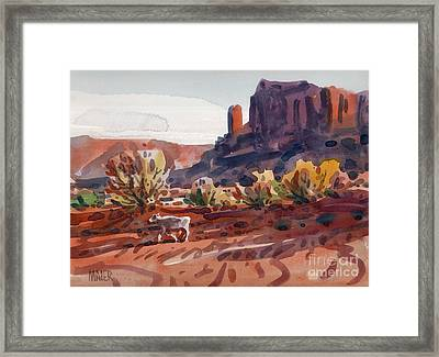 White Calf Framed Print by Donald Maier