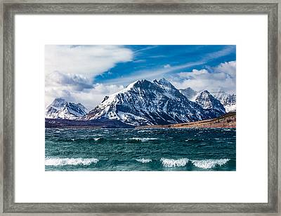 White Caps At Glacier Framed Print