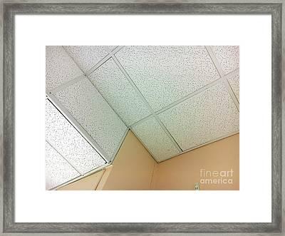 White Ceiling Tiles Framed Print by Tom Gowanlock