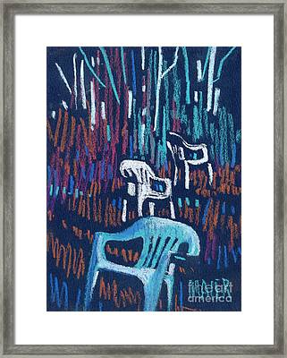 White Chairs Framed Print by Donald Maier