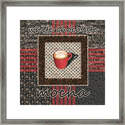 White Chocolate Mocha - Coffee Art Framed Print