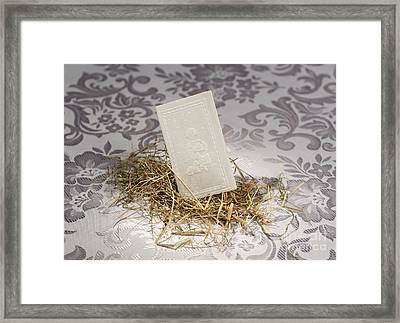 White Christmas Wafer Lying Framed Print by Arletta Cwalina