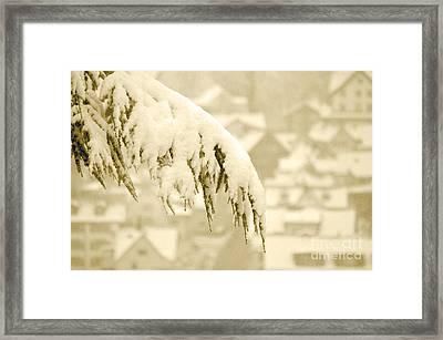 White Christmas - Winter In Switzerland Framed Print