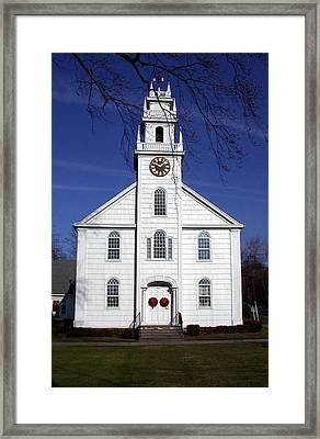 White Church Framed Print by Janice Paige Chow