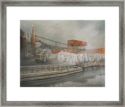 White Cinder Blocks Framed Print by Stefan Beltzig