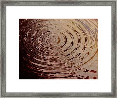 White Circle Framed Print by Lorenzo Roberts