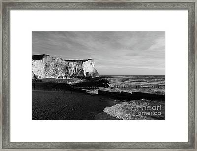 White Cliffs Of England At Seaford Head Framed Print