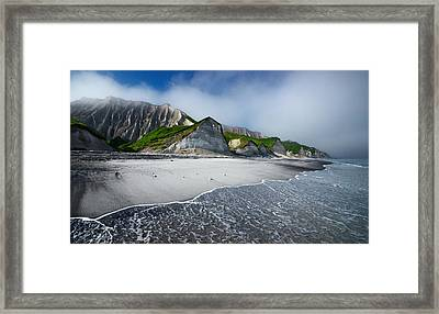 White Cliffs Of Iturup Island Framed Print