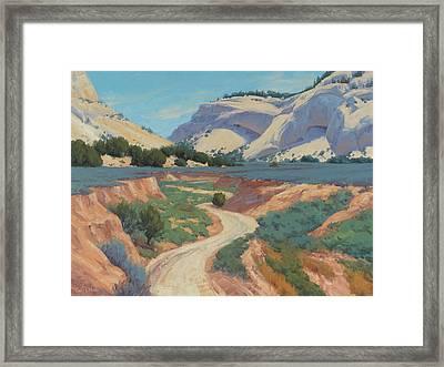 White Cliffs Of Johnson Canyon 18x24 Framed Print