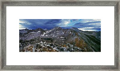 White Cloud Mountains Framed Print by Leland D Howard