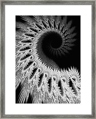 White Crochet Framed Print by Elizabeth McTaggart