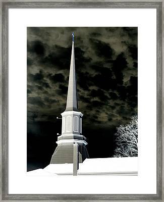 White Cross Dark Skies Framed Print by Joshua House