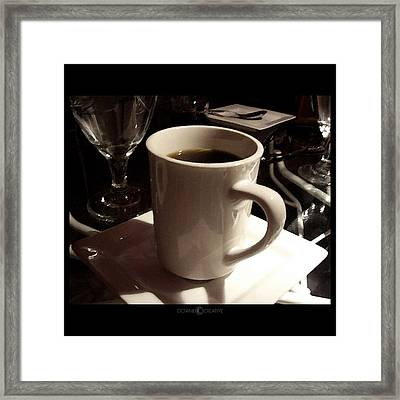 White Cup Framed Print