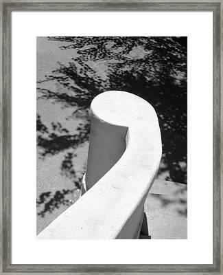 White Curl Framed Print
