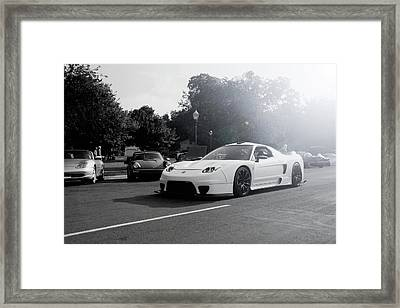 White Custom Nsx  Framed Print