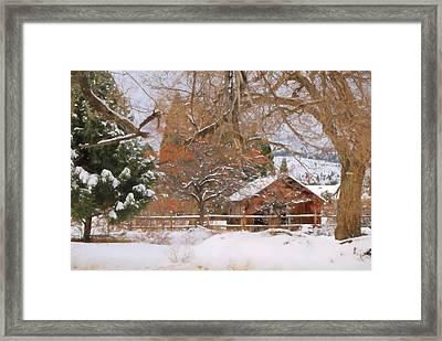 White December Framed Print by Donna Kennedy