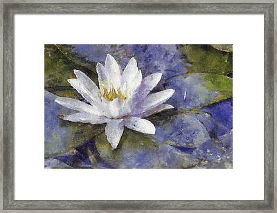 White Diva Framed Print