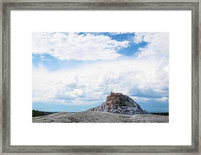 White Dome Geyser Framed Print