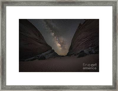 White Domes At Night  Framed Print by Michael Ver Sprill