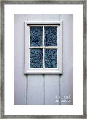 White Door Detail Framed Print by Carlos Caetano