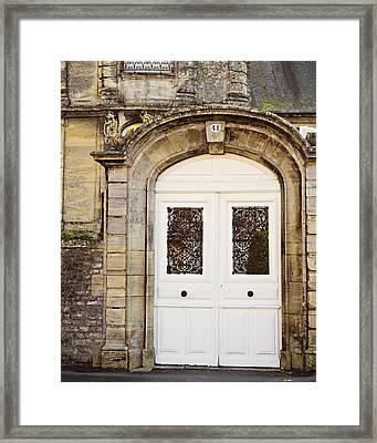 White Door Framed Print by Melanie Alexandra Price