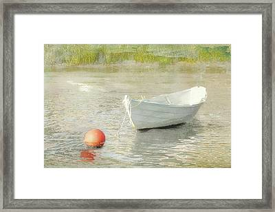 White Dory Framed Print
