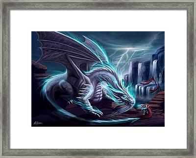 White Dragon Framed Print by Anthony Christou
