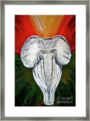 White Elephant Framed Print