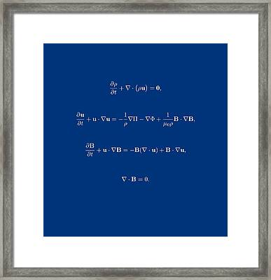 White Equation Framed Print by Jean Noren