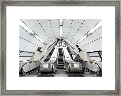 White Escalator Framed Print by Svetlana Sewell