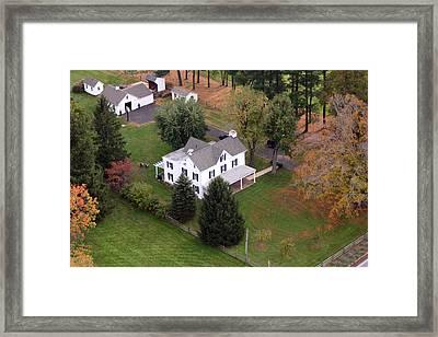 White Farm House Framed Print by Duncan Pearson