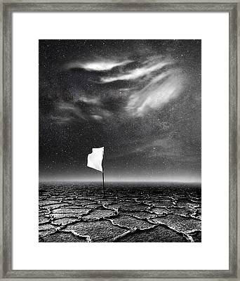 White Flag Framed Print by Jacky Gerritsen