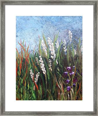White Flower Abstract Framed Print by Beth Maddox