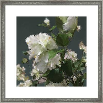White Flowers 103 Framed Print