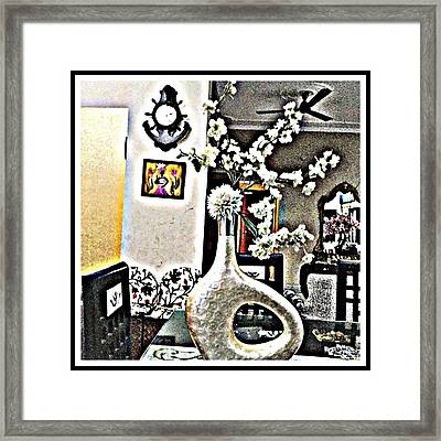 White Floral Ecstasy  Framed Print