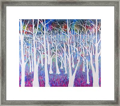 White Forest Framed Print by Rollin Kocsis