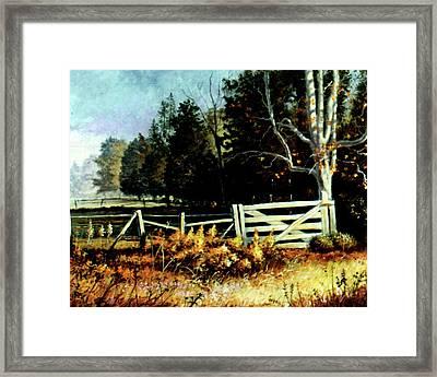 White Gate Framed Print