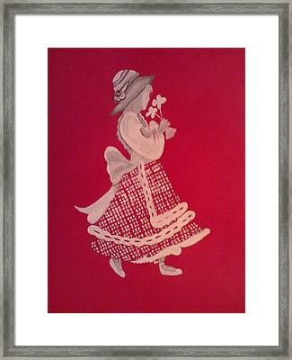 White Girl Framed Print by Samar Abdelmonem