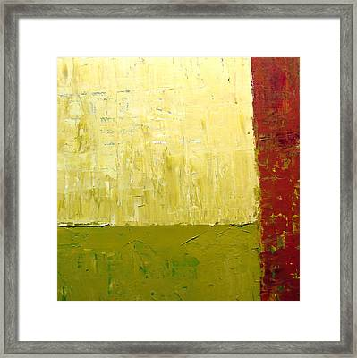 White Green And Red Framed Print