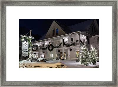 White Gull Inn Framed Print by Jeffrey Ewig