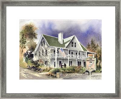 White Gull Inn Framed Print by Steve Krueger