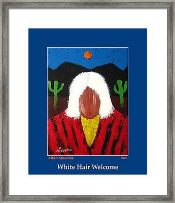 White Hair Welcome Framed Print by Albert Almondia