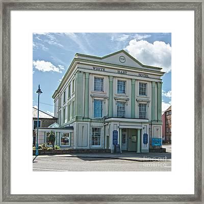 White Hart Hotel Hayle Cornwall Framed Print by Terri Waters