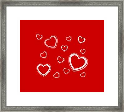White Hearts Framed Print by Gina Lee Manley
