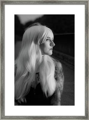 White Heat Framed Print