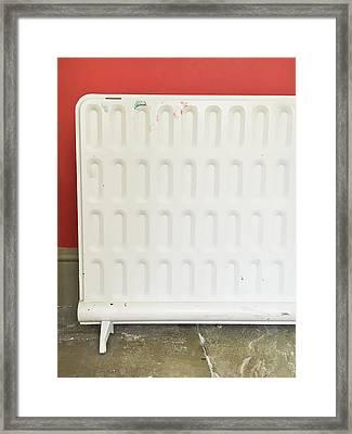 White Heater Framed Print by Tom Gowanlock