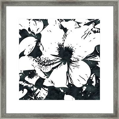 White Hibiscus- Art By Linda Woods Framed Print