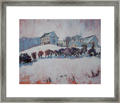 White Hill Zonneberg Maastricht Framed Print by Nop Briex